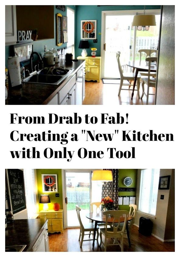 kitchen makeover using only paint