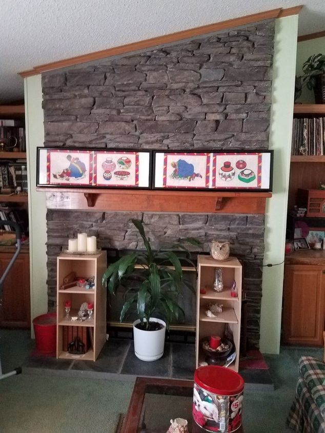 q how can i brighten up this fireplace