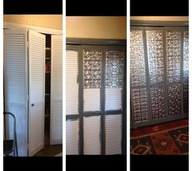 ... replacing the louver with fake tin (you can get it on amazon real inexpensive) or replacing the louver with mirror or beadboard. & Ideas for updating louvered doors | Hometalk