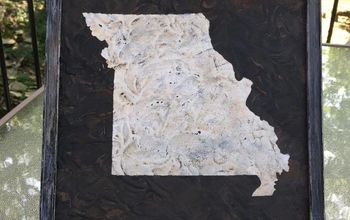 creating rusty missouri or any state art with paint and cinnamon
