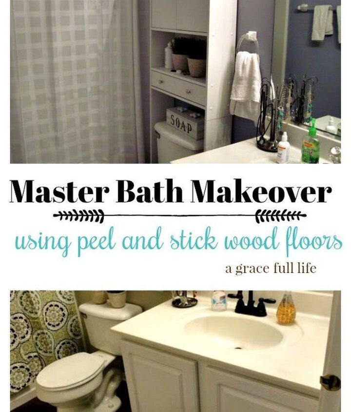 peel and stick hardwood floors for your bath
