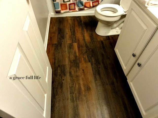 Peel And Stick Hardwood Floors For Your Bath Hometalk