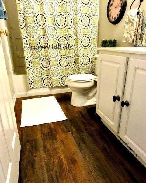 Peel And Stick Hardwood Floors For Your Bath Hometalk