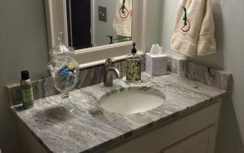 hall bath update on a budget, After