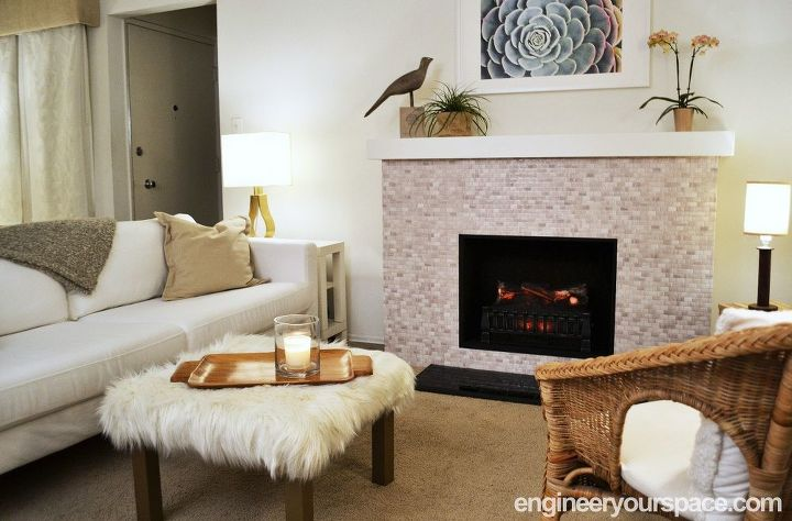 how to build a portable free standing decorative faux fireplace