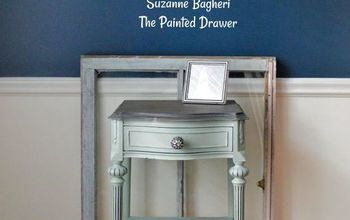Sea Glass Thrift Store Table Makeover