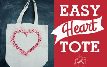How to Make a Heart Tote Bag With a Pencil Eraser.