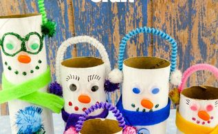 snowmen family toilet paper roll craft