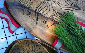 turn ordinary wooden plates into personalized gifts