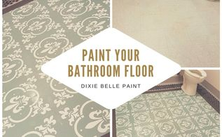 painting on linoleum floors with dixie belle paint