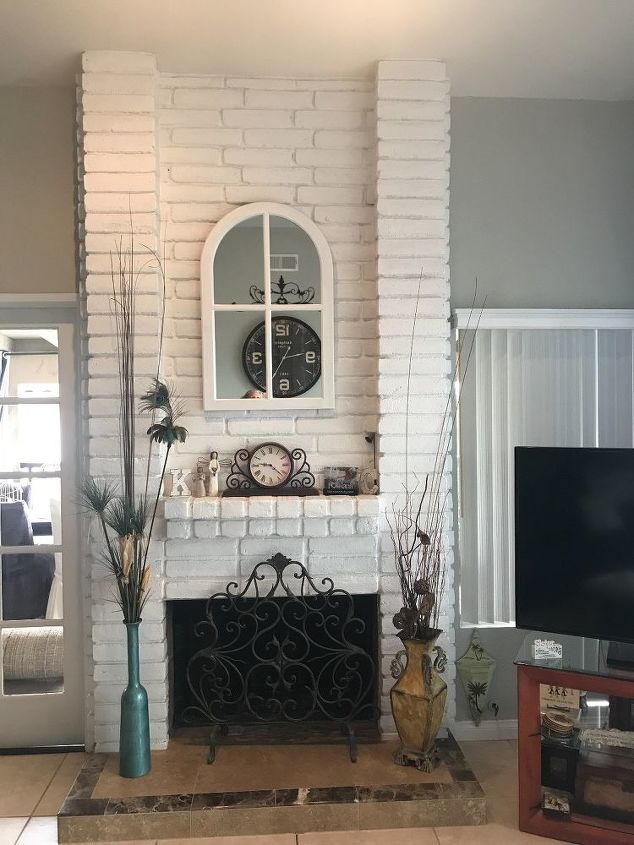 q how to updo fireplace