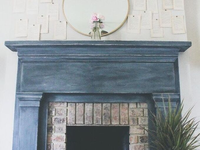 diy paint the fireplace with chalk paint