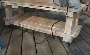 coffee work table with wheels made from wood pallets