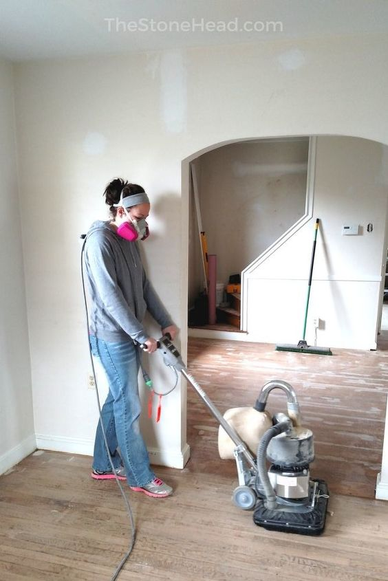 my hardwood floor refinishing tips tricks, That s me The Stone Head