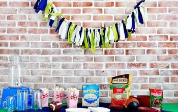 Fabric Football Party Banner Tutorial