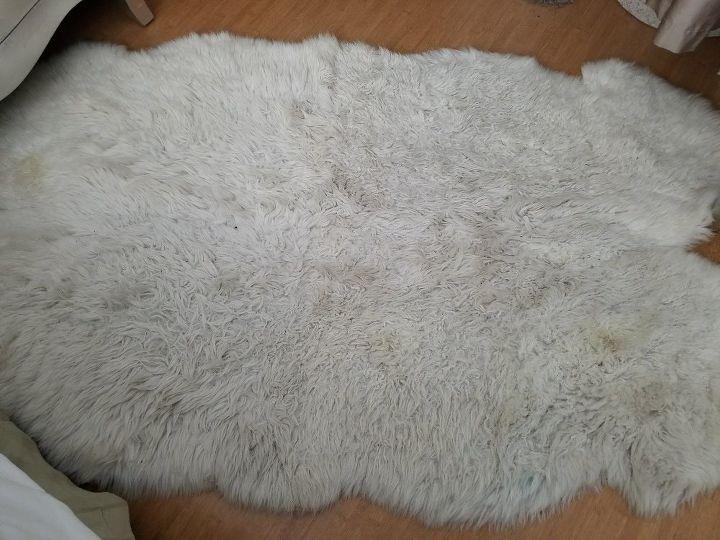 q how do you clean sheepskin throw rugs