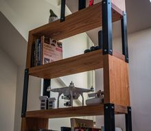 industrial style mahogany bookcase