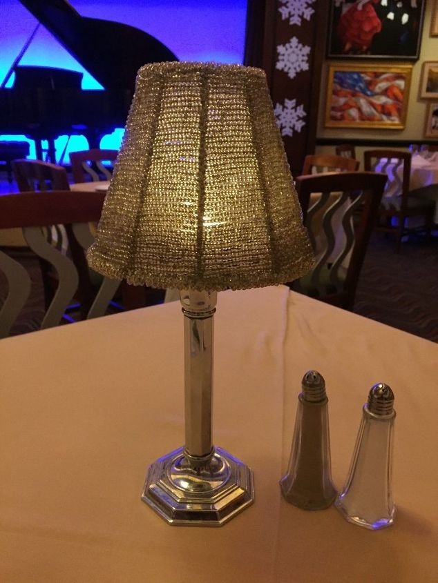 q i want to make centerpieces with dolphin motif that goes above lamps