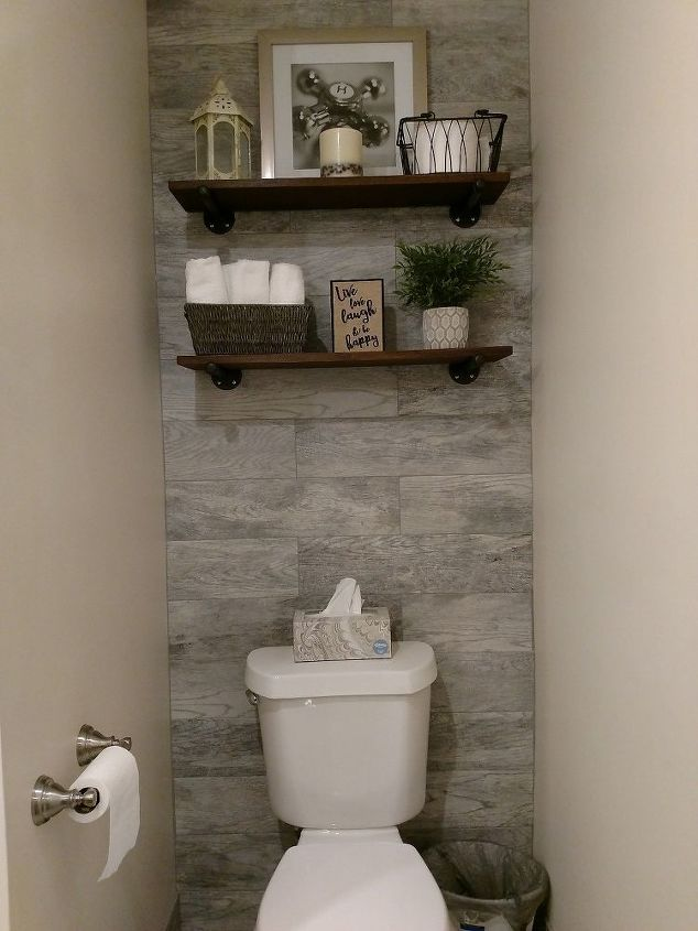 Guest bathroom with toilet closet makeover hometalk - How to decorate a guest bathroom ...
