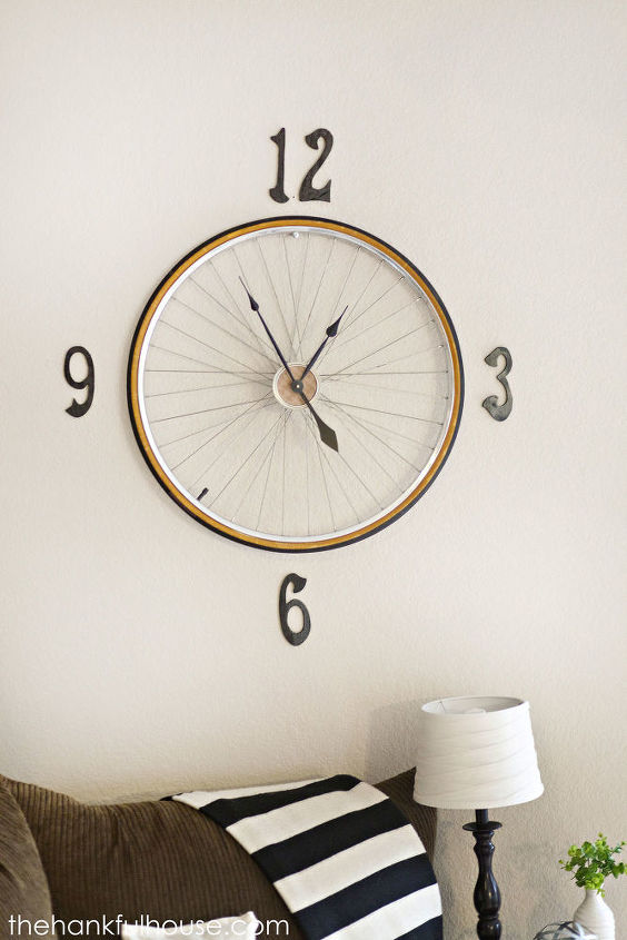 s 20 ways to make your own personalized clock, Vintage Bicycle Wheel Clock