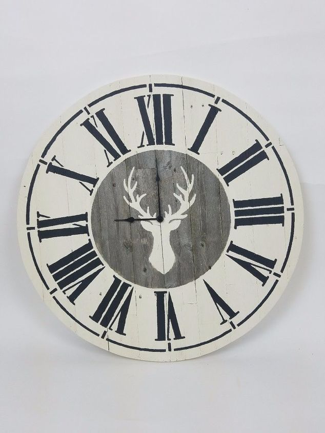 s 20 ways to make your own personalized clock, Farmhouse Wall Clock