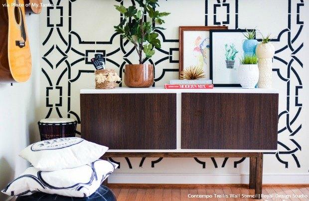 s 25 stencil patterns you ll wish you d seen sooner, Contempo Trellis Wall Stencil