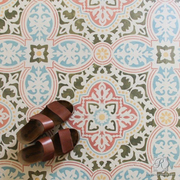 s 25 stencil patterns you ll wish you d seen sooner, Anatolia Tile Stencil