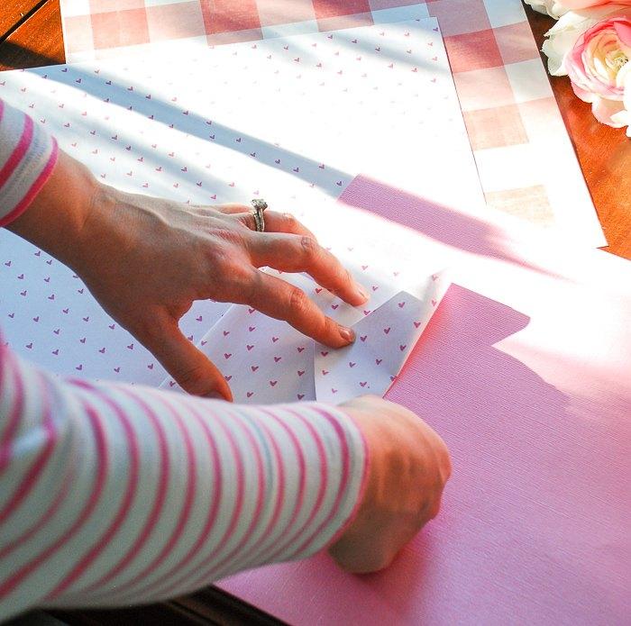 flamingo valentine craft with free printable