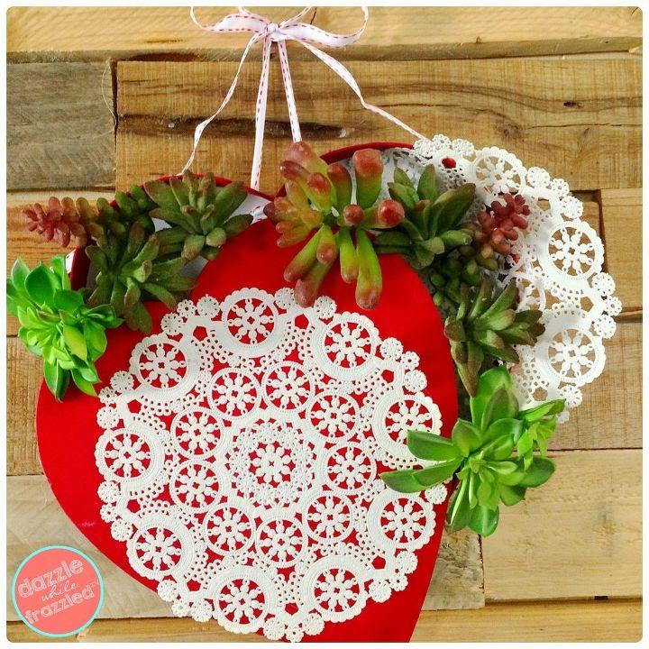 Chocolate box Valentine's heart wreath.