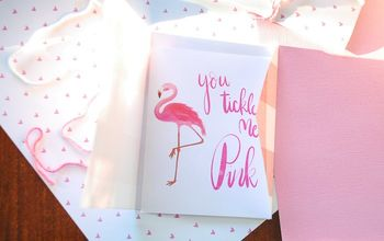 Flamingo Valentine Craft With Free Printable