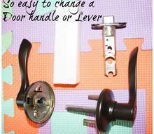 how to change a door handle or lever