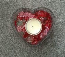 easy and inexpensive valentine candle holder
