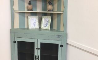 how to paint repair a corner cupboard