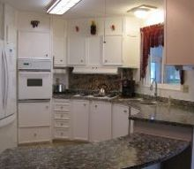 diy paint your ugly counter top to look like granite for 100