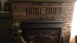 , My mantel is green to match entertainment center across the room an has natural gas insert but brick in good shape just needs face lift an don t want to go to big expense