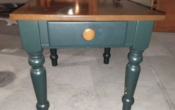 giving a dated end table new life