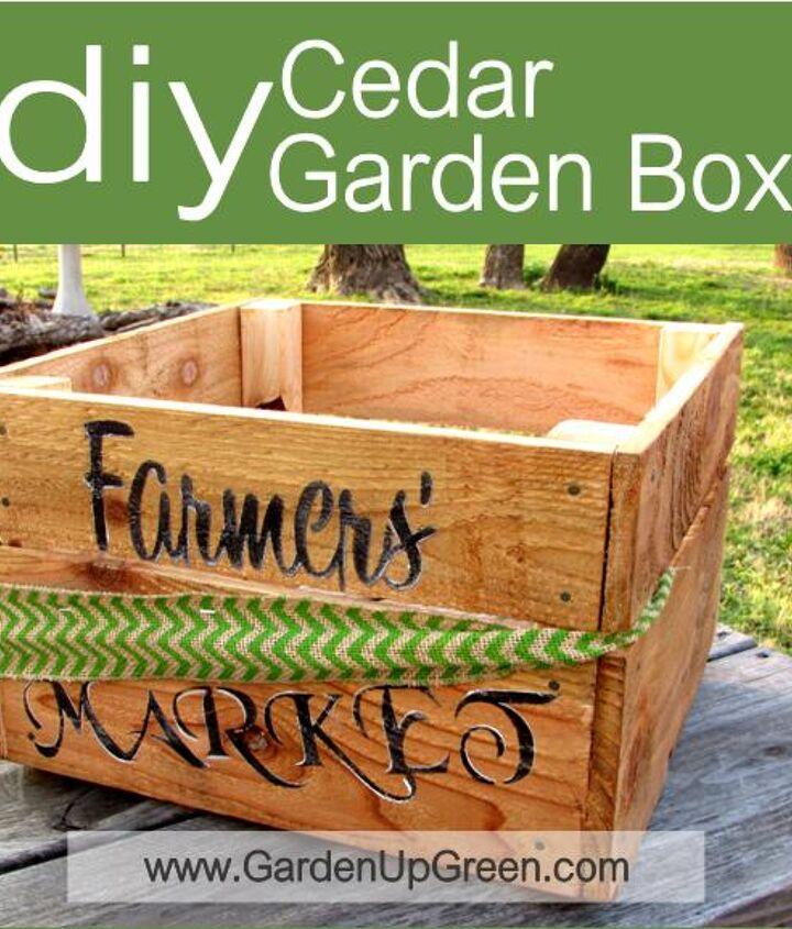 diy cedar garden box