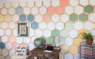 hexagon wall treatment
