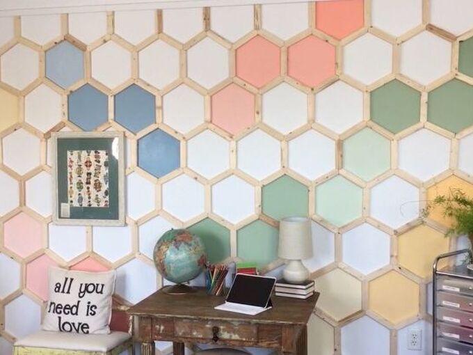 hexagon wall treatment
