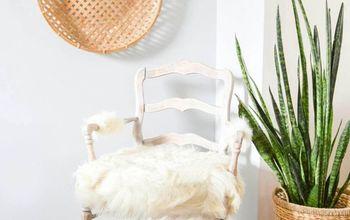 DIY Boho Chic Faux Fur Chair Makeover