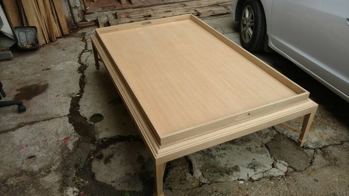 e finished making this coffee table over the weekend