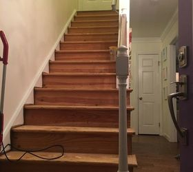 Stairs From Carpet To Wood, Stairs After Staples And Nails Removed