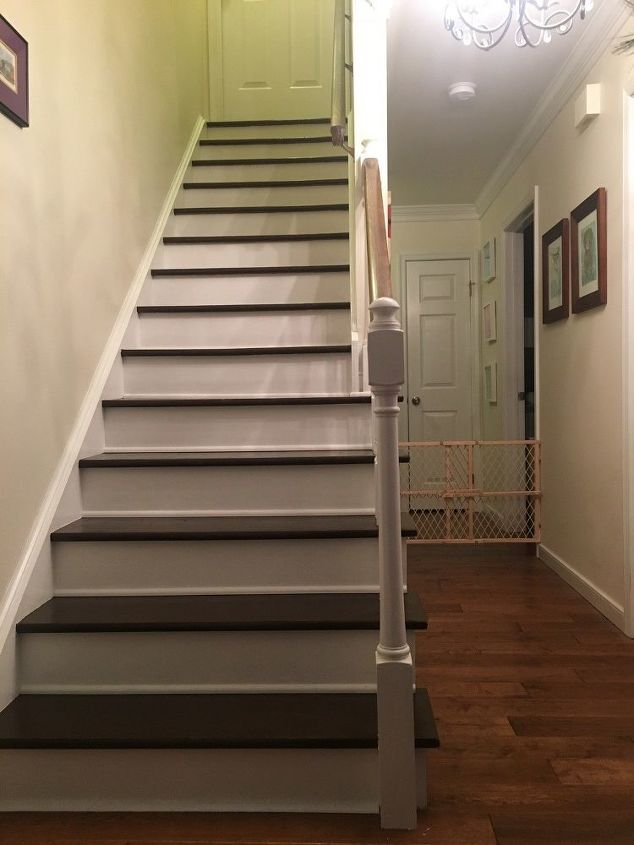 stairs from carpet to wood