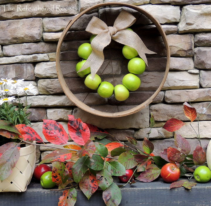 s 15 fun ways you can use food to decorate your home, Pretty Apple Wreath
