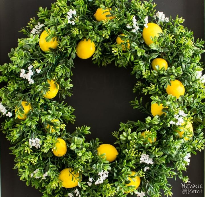 s 15 fun ways you can use food to decorate your home, Summer Lemon Wreath