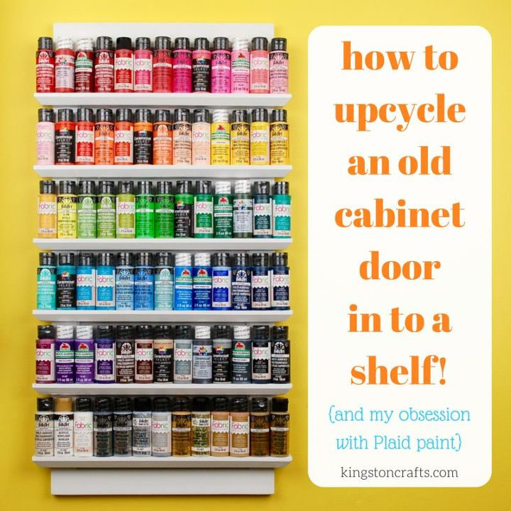 upcycled shelf from a cabinet door