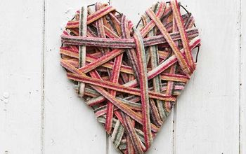 Gorgeous Recycled Sweater Valentines Decoration