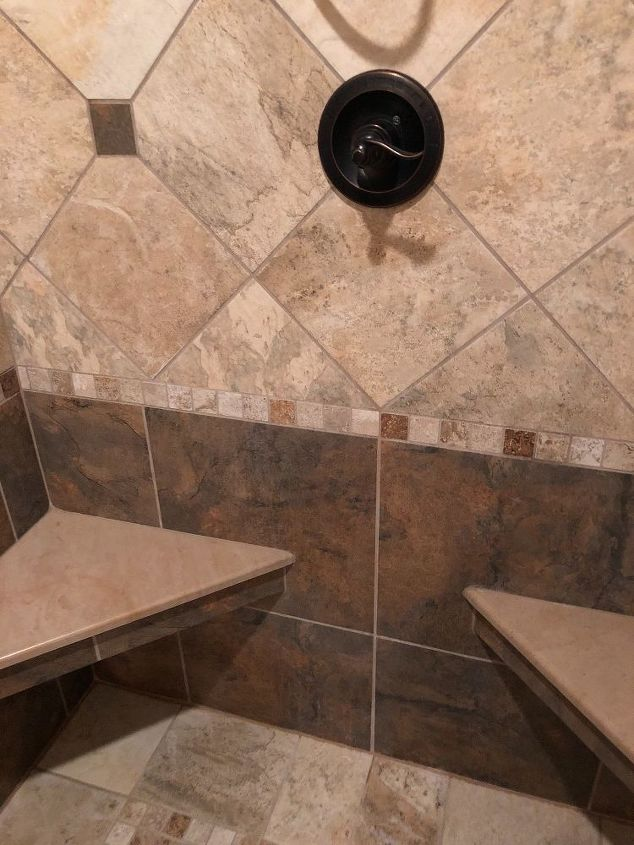 q how do you get ceramic tile on the floor and walls clean