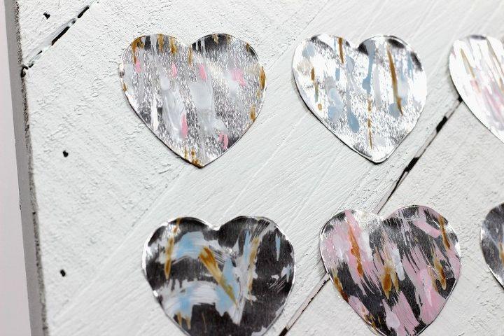 metallic hearts valentine sign