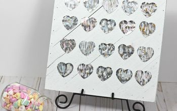 Metallic Hearts Valentine Sign